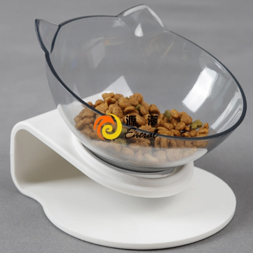 Tilted pet cat single bowl