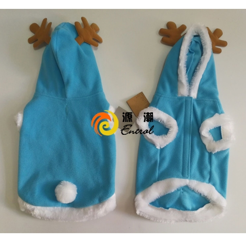 Fleece Pet Jacket with hoodie